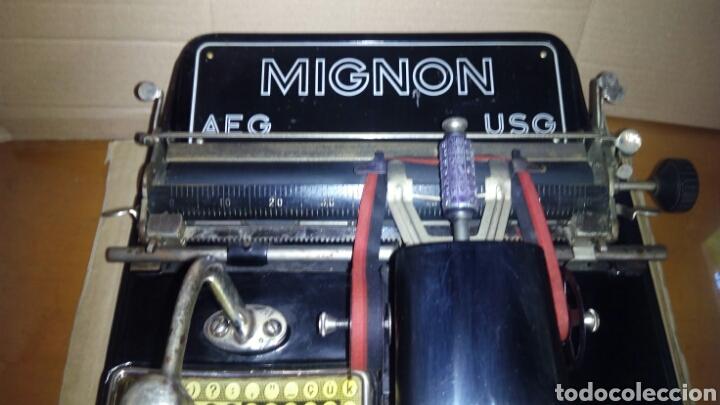 Antigüedades: Maquina de escribir AEG, MIGNON,Muy buen estado - Foto 5 - 125240294