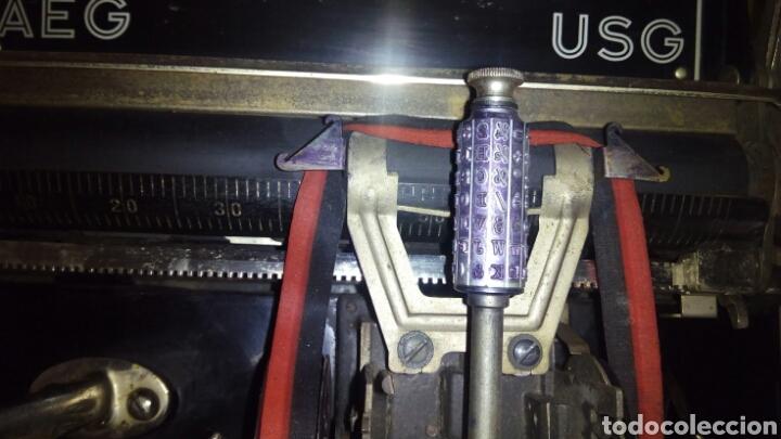 Antigüedades: Maquina de escribir AEG, MIGNON,Muy buen estado - Foto 9 - 125240294