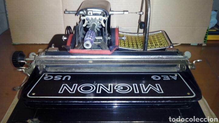Antigüedades: Maquina de escribir AEG, MIGNON,Muy buen estado - Foto 13 - 125240294