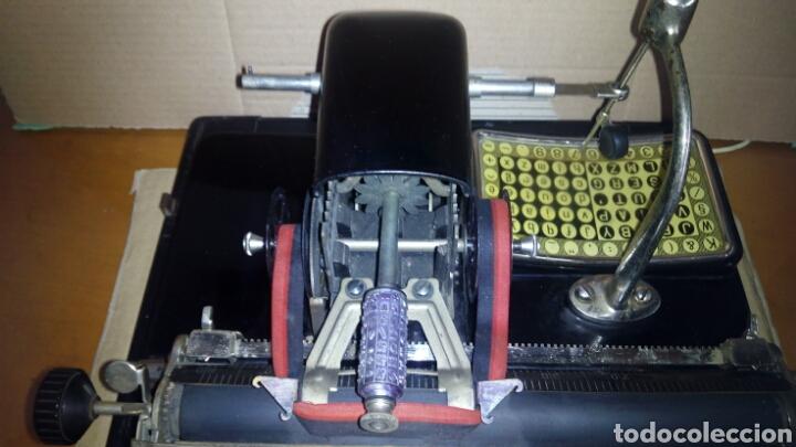 Antigüedades: Maquina de escribir AEG, MIGNON,Muy buen estado - Foto 16 - 125240294