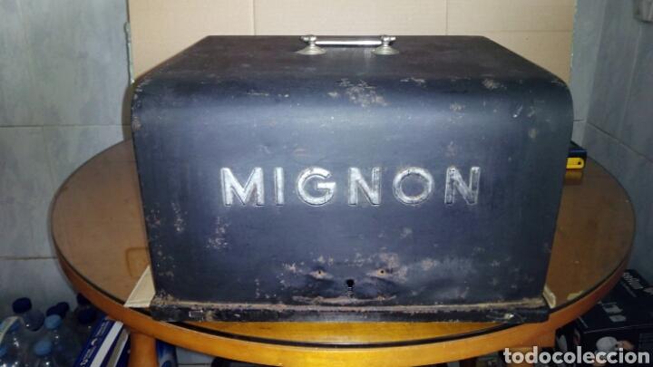 Antigüedades: Maquina de escribir AEG, MIGNON,Muy buen estado - Foto 21 - 125240294