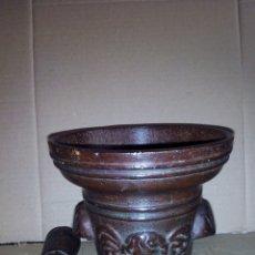 Antigüedades: ALMIDEZ DE HIERRO,GRANDE 14 ALTO X 15 DIÁMETRO. Lote 125240827