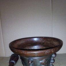 Antigüedades: ALMIDEZ DE HIERRO ,GRANDE 10 CM DE ALTO X 18 DE DIÁMETRO. Lote 125241123