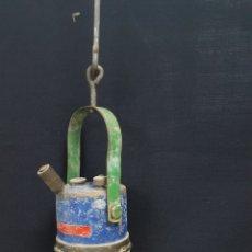 Antigüedades: LAMPARA DE CARBURO. Lote 125246068