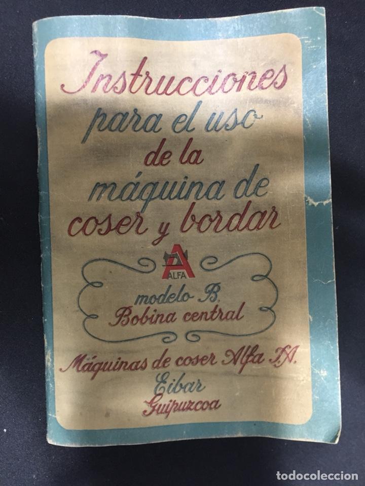 LIBRITO DE INSTRUCCIONES ALFA (Antigüedades - Técnicas - Máquinas de Coser Antiguas - Alfa)