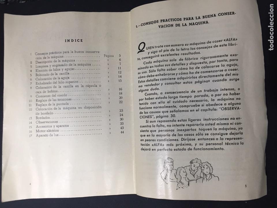 Antigüedades: Librito de instrucciones alfa - Foto 3 - 125274474