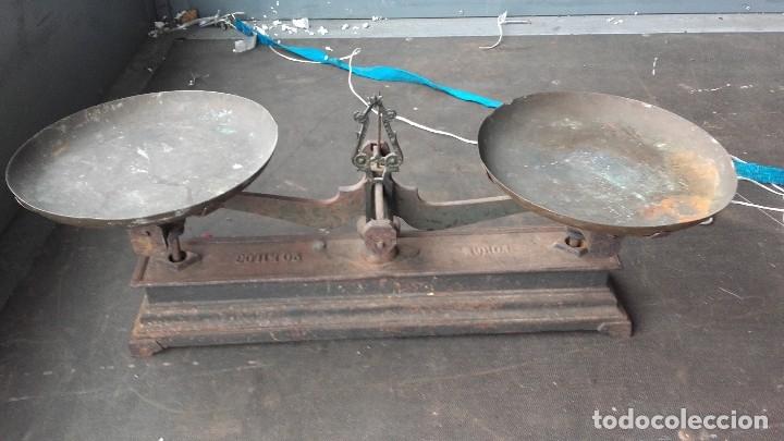 Antigüedades: Imponente balanza para pesar hasta 20 kilos - Foto 4 - 125311607