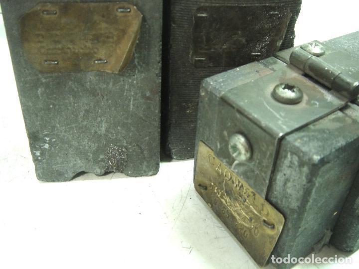 Antigüedades: CADWELD - KIT SOLDADURA EXOTERMICA -4X MOLDE CARTUCHO 90 65 MECHERO IGNICION-PINZAS POLVO CARTUCHOS - Foto 8 - 125404911