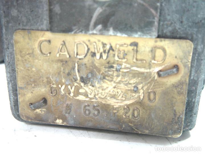 Antigüedades: CADWELD - KIT SOLDADURA EXOTERMICA -4X MOLDE CARTUCHO 90 65 MECHERO IGNICION-PINZAS POLVO CARTUCHOS - Foto 9 - 125404911