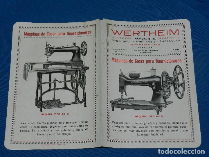(BF) CATALOGO MAQUINA DE COSER WERTHEIM , MODELOS ADLER TIPO 4-10 , TIPO 5-5 , TIPO 5-25 (Antigüedades - Técnicas - Máquinas de Coser Antiguas - Wertheim )