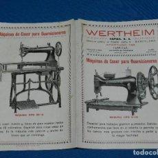 Antigüedades: (BF) CATALOGO MAQUINA DE COSER WERTHEIM , MODELOS ADLER TIPO 4-10 , TIPO 5-5 , TIPO 5-25. Lote 125424187