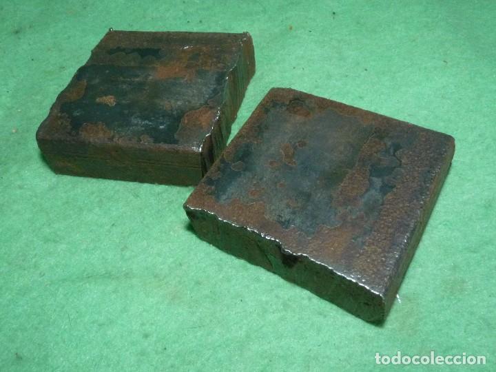 Antigüedades: PAREJA QUICIO HIERRO PORTON ANTIGUO PARA APOYO GOZNES BISAGRAS PUERTA PRINCIPIOS XX - Foto 4 - 125441975