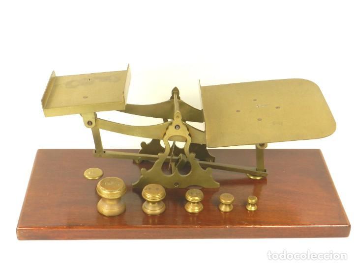 ANTIGUA BALANZA PESA CARTAS AÑO 1900 APROX (Antigüedades - Técnicas - Medidas de Peso - Balanzas Antiguas)