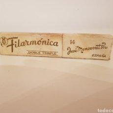 Antigüedades: FILARMONICA JOSE MONSERRAT POU 14 DOBLE TEMPLE.EN CAJA ORIGINAL.GRAN ESTADO.. Lote 125458515