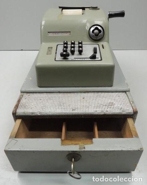 REGISTRADORA MARCA HISPANO OLIVETTI. AÑOS 70. FUNCIONA. (Antigüedades - Técnicas - Aparatos de Cálculo - Cajas Registradoras Antiguas)