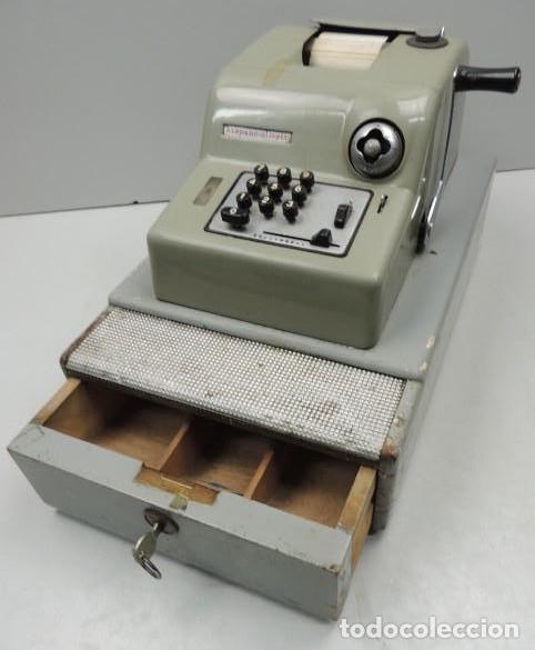 Antigüedades: Registradora marca HISPANO OLIVETTI. Años 70. Funciona. - Foto 2 - 125612403