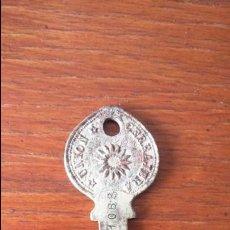 Antigüedades: ANTIGUA Y RARA LLAVE DE CERRADURA. UNIÓN CERRAJERA . Lote 125646899