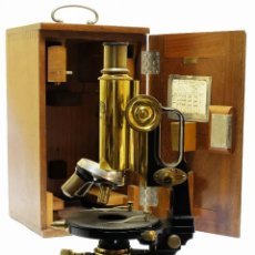 Antigüedades: 1890 - IMPRESIONANTE MICROSCOPIO DE CARL ZEISS - COMPLETO CON CONDENSADOR Y DIAFRAGMA. Lote 126006787