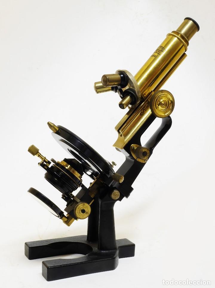 Antigüedades: 1890 - Impresionante microscopio de Carl Zeiss - Completo con condensador y diafragma - Foto 4 - 126006787