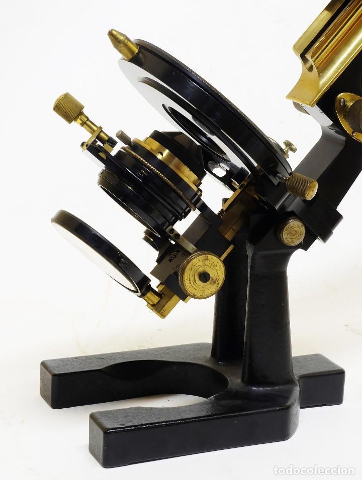 Antigüedades: 1890 - Impresionante microscopio de Carl Zeiss - Completo con condensador y diafragma - Foto 5 - 126006787