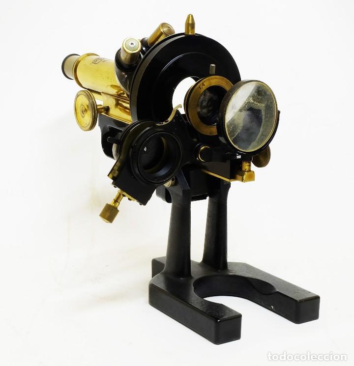 Antigüedades: 1890 - Impresionante microscopio de Carl Zeiss - Completo con condensador y diafragma - Foto 7 - 126006787