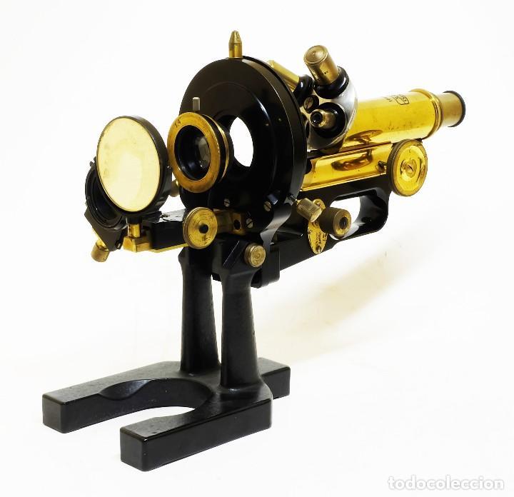Antigüedades: 1890 - Impresionante microscopio de Carl Zeiss - Completo con condensador y diafragma - Foto 8 - 126006787