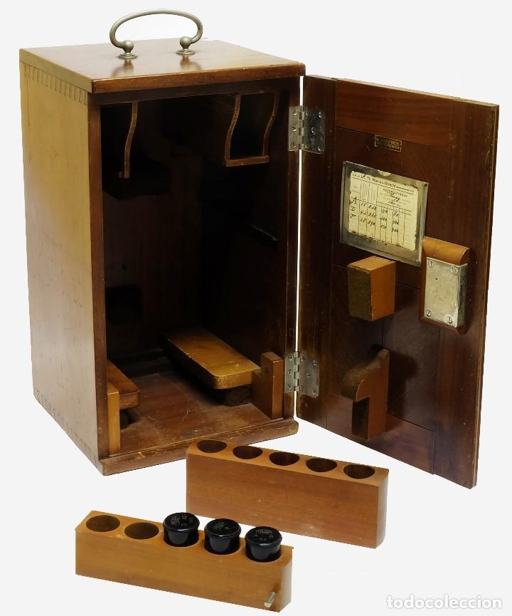 Antigüedades: 1890 - Impresionante microscopio de Carl Zeiss - Completo con condensador y diafragma - Foto 9 - 126006787