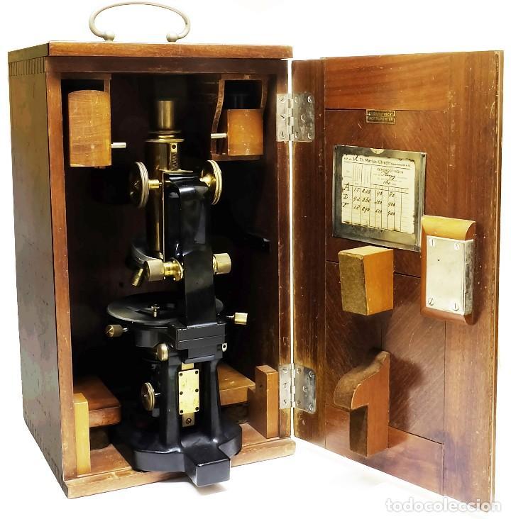 Antigüedades: 1890 - Impresionante microscopio de Carl Zeiss - Completo con condensador y diafragma - Foto 10 - 126006787
