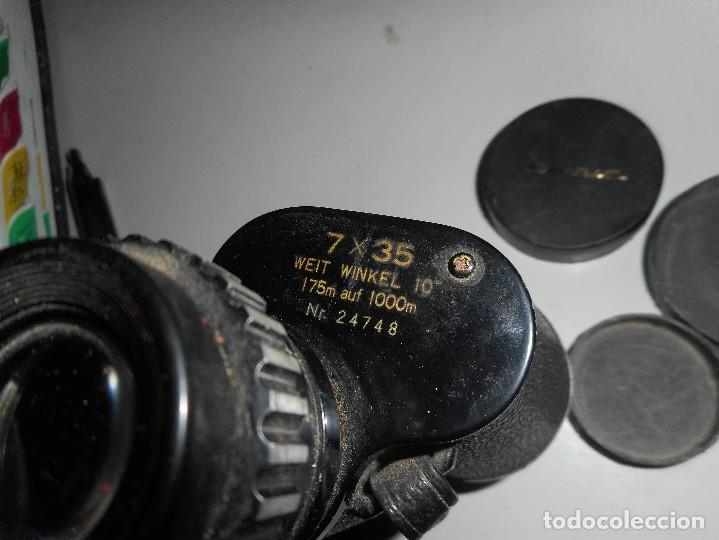 Antigüedades: prismaticos revue con su funda - Foto 6 - 126122679