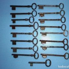 Antigüedades: LOTE DE 17 LLAVES. Lote 26784552