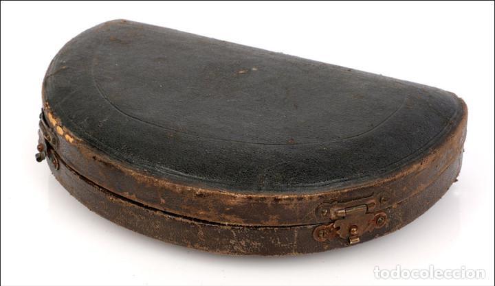 Antigüedades: Antiguo Nivel de Expedición o de Viaje con Estuche. Alemania s. XIX - Foto 4 - 126191147