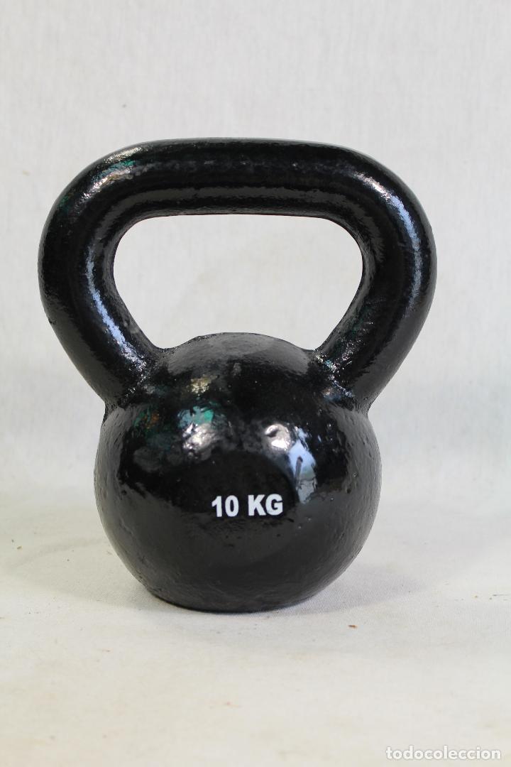 Antigüedades: pesa 10k - ponderal de hierro - Foto 3 - 126273587