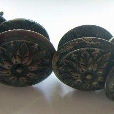 Antigüedades: 4 ANTIGUOS TIRADORES DE BRONCE . Lote 126473855