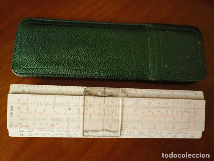 REGLA DE CALCULO FABER CASTELL 67/54 DARMSTADT CON FUNDA - CALCULADORA SLIDE RULE RECHENSCHIEBER (Antigüedades - Técnicas - Aparatos de Cálculo - Reglas de Cálculo Antiguas)