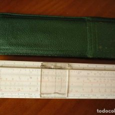 Antigüedades: REGLA DE CALCULO FABER CASTELL 67/54 DARMSTADT CON FUNDA - CALCULADORA SLIDE RULE RECHENSCHIEBER. Lote 126563371