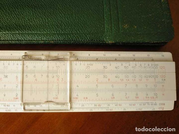 Antigüedades: REGLA DE CALCULO FABER CASTELL 67/54 DARMSTADT CON FUNDA - CALCULADORA SLIDE RULE RECHENSCHIEBER - Foto 3 - 126563371