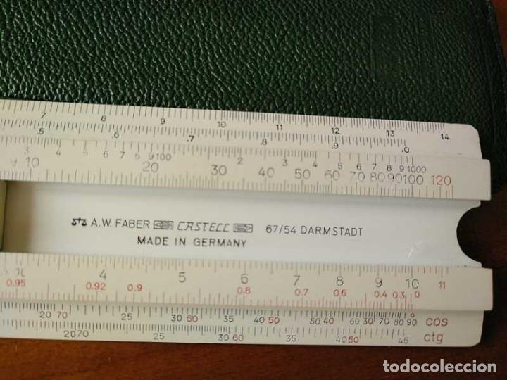 Antigüedades: REGLA DE CALCULO FABER CASTELL 67/54 DARMSTADT CON FUNDA - CALCULADORA SLIDE RULE RECHENSCHIEBER - Foto 11 - 126563371