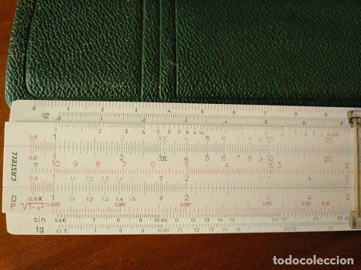 Antigüedades: REGLA DE CALCULO FABER CASTELL 67/54 DARMSTADT CON FUNDA - CALCULADORA SLIDE RULE RECHENSCHIEBER - Foto 24 - 126563371