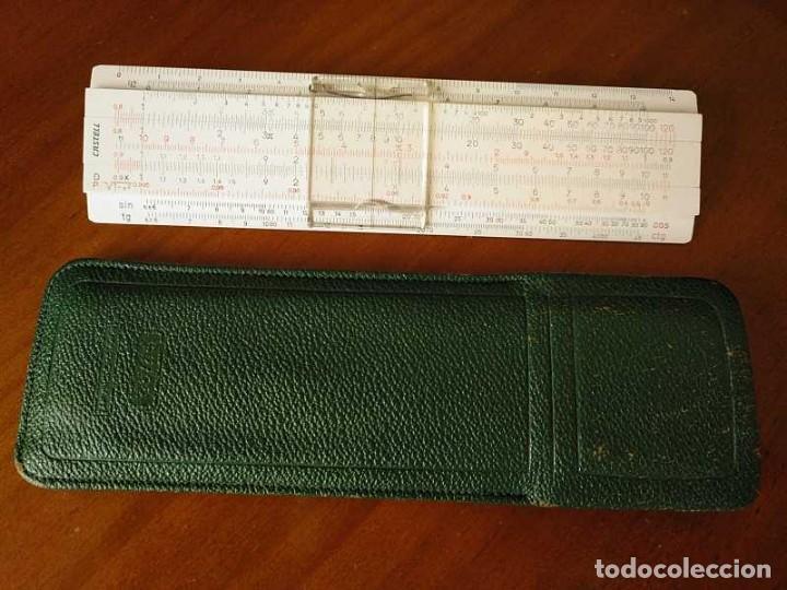 Antigüedades: REGLA DE CALCULO FABER CASTELL 67/54 DARMSTADT CON FUNDA - CALCULADORA SLIDE RULE RECHENSCHIEBER - Foto 28 - 126563371