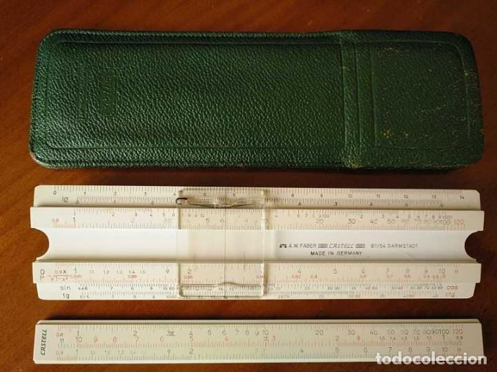 Antigüedades: REGLA DE CALCULO FABER CASTELL 67/54 DARMSTADT CON FUNDA - CALCULADORA SLIDE RULE RECHENSCHIEBER - Foto 37 - 126563371