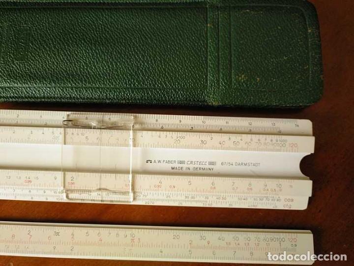 Antigüedades: REGLA DE CALCULO FABER CASTELL 67/54 DARMSTADT CON FUNDA - CALCULADORA SLIDE RULE RECHENSCHIEBER - Foto 39 - 126563371