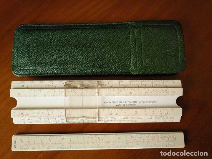 Antigüedades: REGLA DE CALCULO FABER CASTELL 67/54 DARMSTADT CON FUNDA - CALCULADORA SLIDE RULE RECHENSCHIEBER - Foto 41 - 126563371