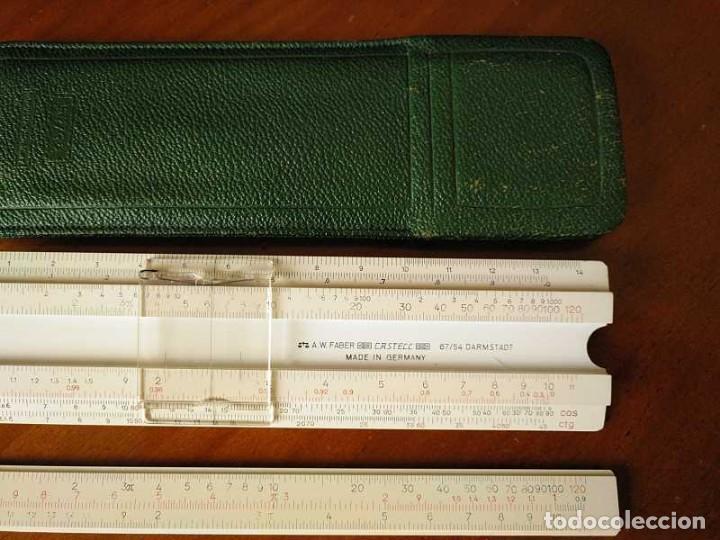 Antigüedades: REGLA DE CALCULO FABER CASTELL 67/54 DARMSTADT CON FUNDA - CALCULADORA SLIDE RULE RECHENSCHIEBER - Foto 42 - 126563371