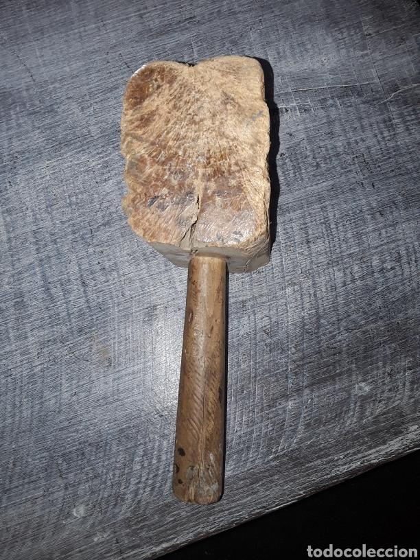 MAZO DE CARPINTERO ANTIGUO DE ENCINA (Antigüedades - Técnicas - Herramientas Profesionales - Carpintería )