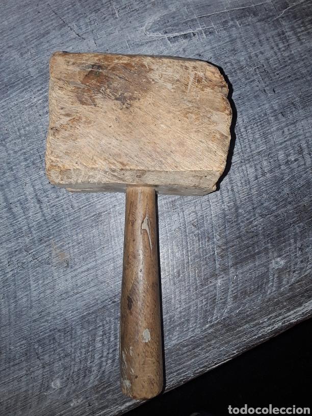 Antigüedades: Mazo de carpintero antiguo de encina - Foto 2 - 126667904
