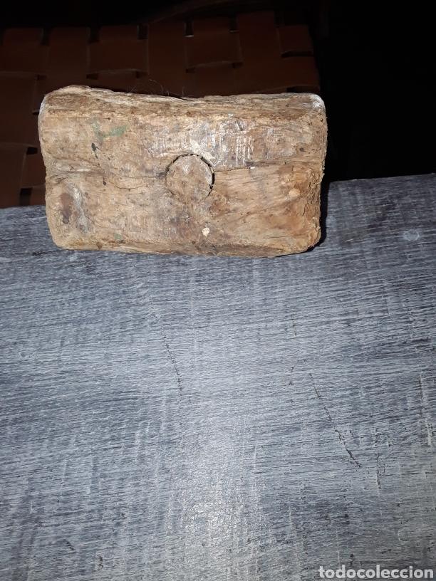 Antigüedades: Mazo de carpintero antiguo de encina - Foto 5 - 126667904