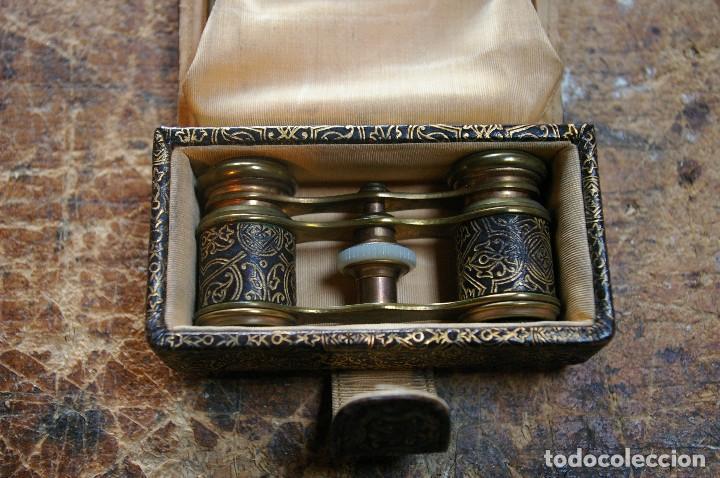 Antigüedades: Bolso para los prismaticos, monedero y espejito. - Foto 3 - 126812879