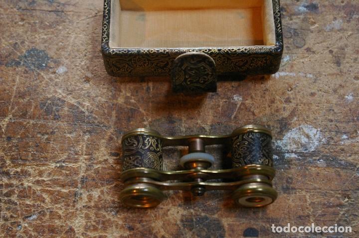 Antigüedades: Bolso para los prismaticos, monedero y espejito. - Foto 5 - 126812879