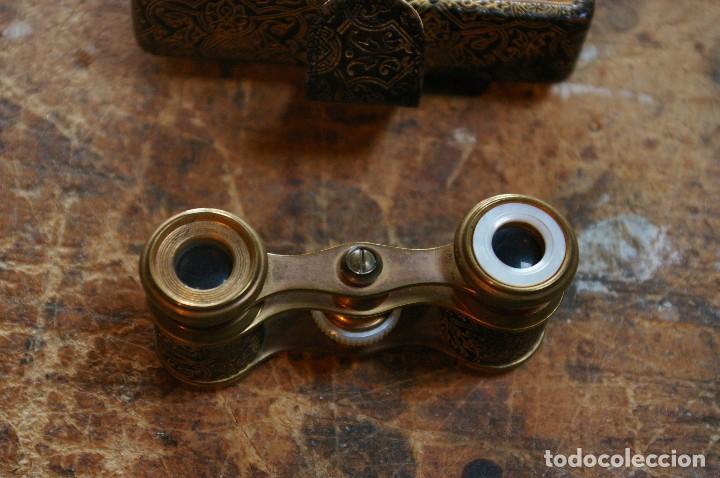 Antigüedades: Bolso para los prismaticos, monedero y espejito. - Foto 6 - 126812879