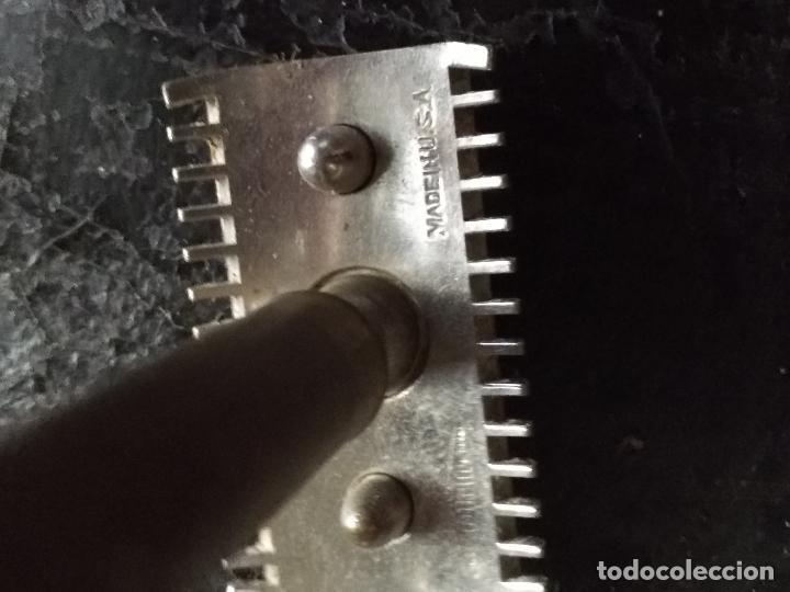 Antigüedades: antigua maquinilla de afeitar metal . fabricada en usa - Foto 2 - 126855695